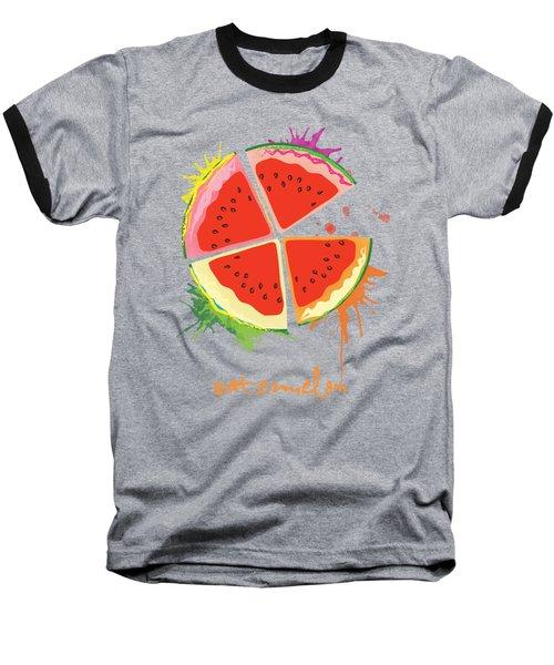 Watermelon Splash Baseball T-Shirt