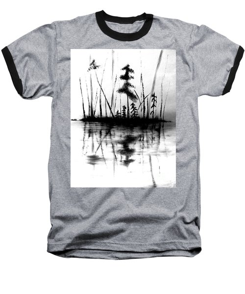 Baseball T-Shirt featuring the painting Waters Edge by Denise Tomasura