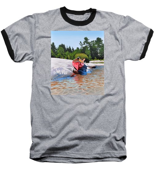 Baseball T-Shirt featuring the painting Waters Edge by Kenneth M Kirsch