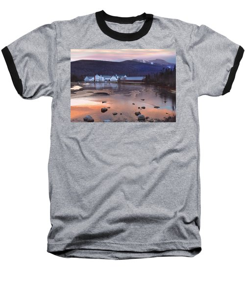 Waterville Valley Sunset Baseball T-Shirt by Nancy Griswold