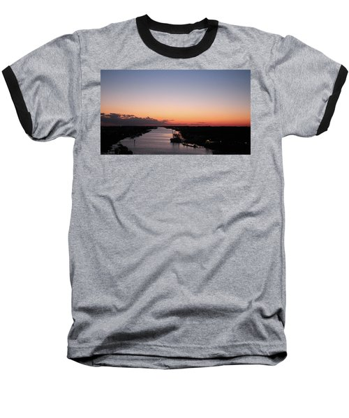Waterway Sunset #1 Baseball T-Shirt