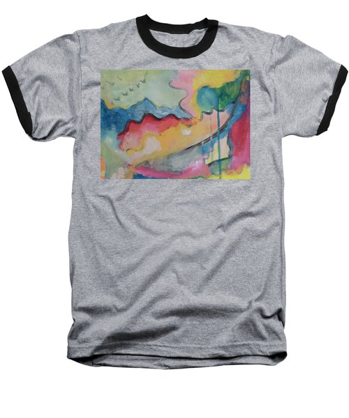 Baseball T-Shirt featuring the digital art Watery Abstract by Susan Stone