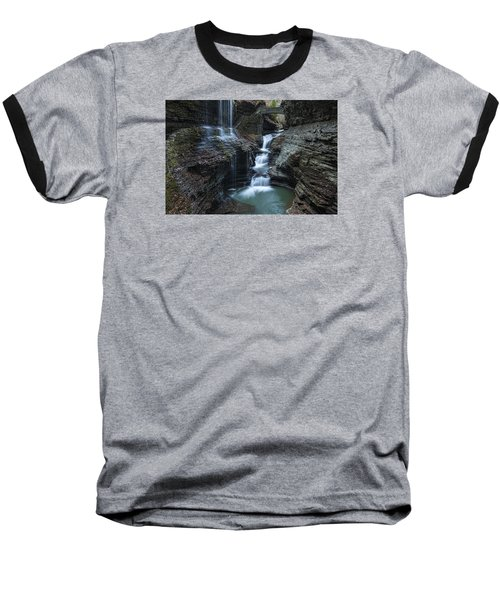 Watkins Glen Rainbow Falls Baseball T-Shirt