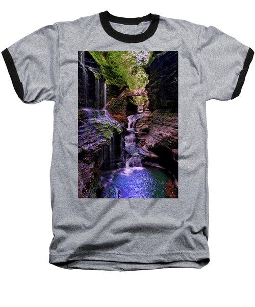 Watkins Glen State Park - Rainbow Falls 002 Baseball T-Shirt