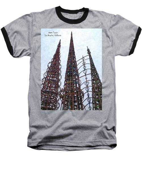 Baseball T-Shirt featuring the photograph Watts Towers 2 - Los Angeles by Glenn McCarthy Art and Photography