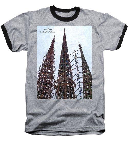 Watts Towers 2 - Los Angeles Baseball T-Shirt