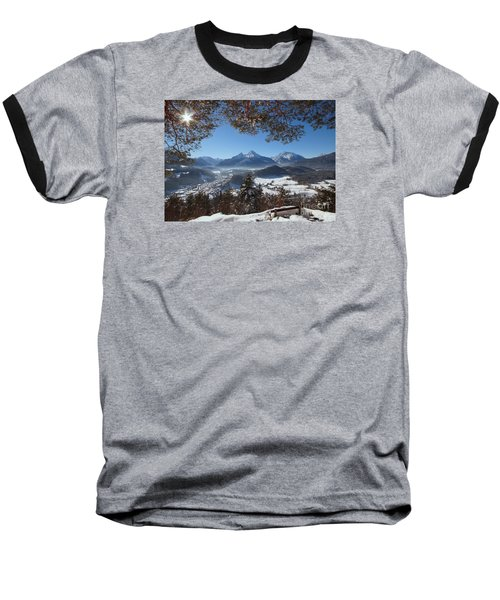 Watzmann Panorama 1 Baseball T-Shirt by Rudi Prott