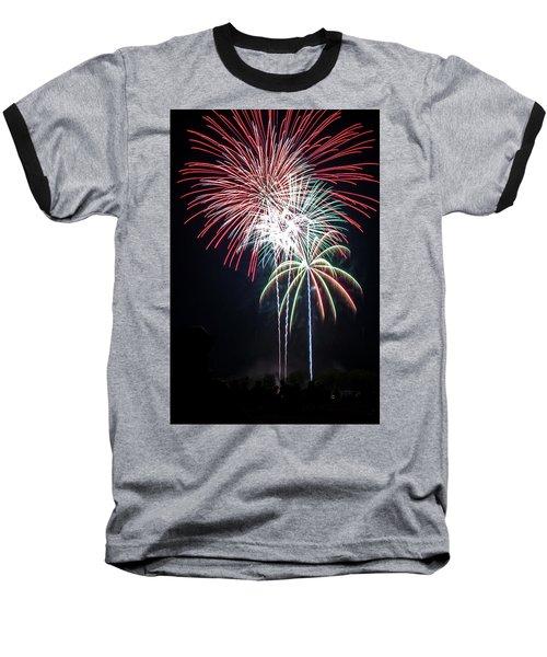 Waukesha Fireworks 01 Baseball T-Shirt