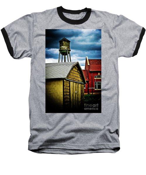 Waurika Old Buildings Baseball T-Shirt