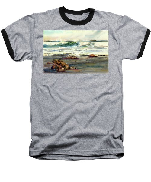Wave Action Baseball T-Shirt by P Anthony Visco