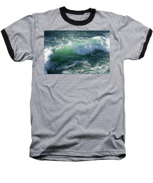 Wave At Montana De Oro Baseball T-Shirt by Michael Rock