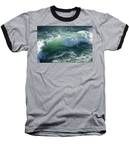 Wave At Montana De Oro Baseball T-Shirt