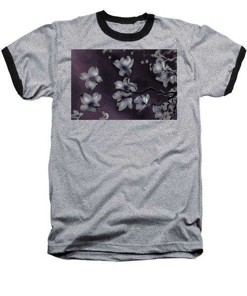 Wave Japanese Art Baseball T-Shirt by Gray  Artus