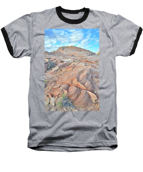 Wave Of Sandstone In Valley Of Fire Baseball T-Shirt by Ray Mathis
