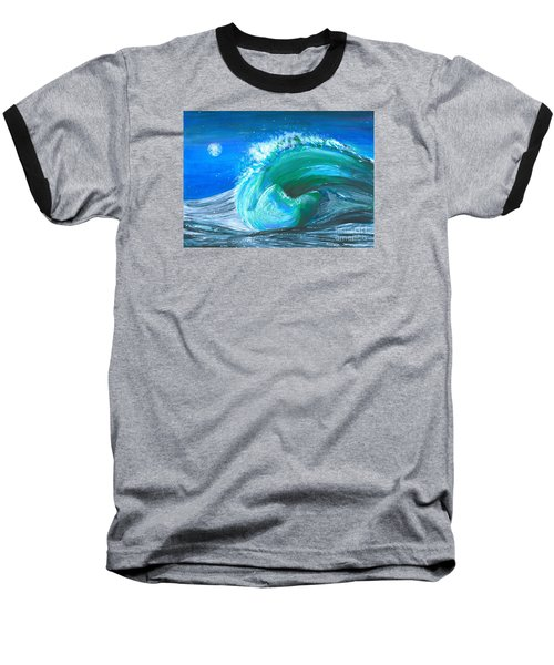 Wave Baseball T-Shirt by Veronica Rickard