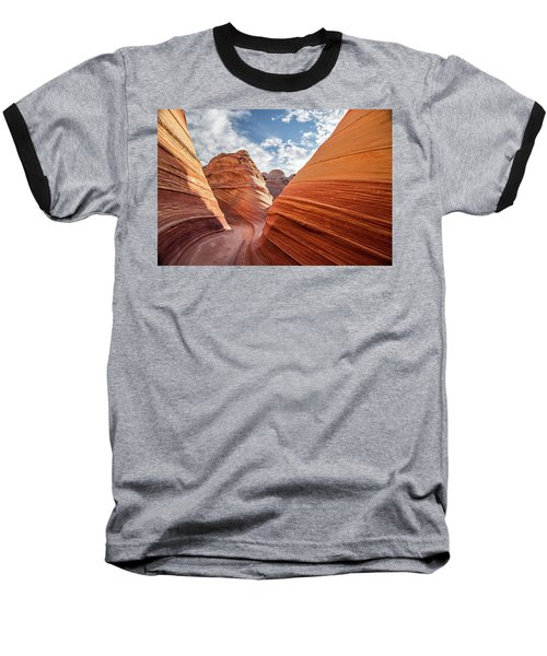 Baseball T-Shirt featuring the photograph Wave by Wesley Aston