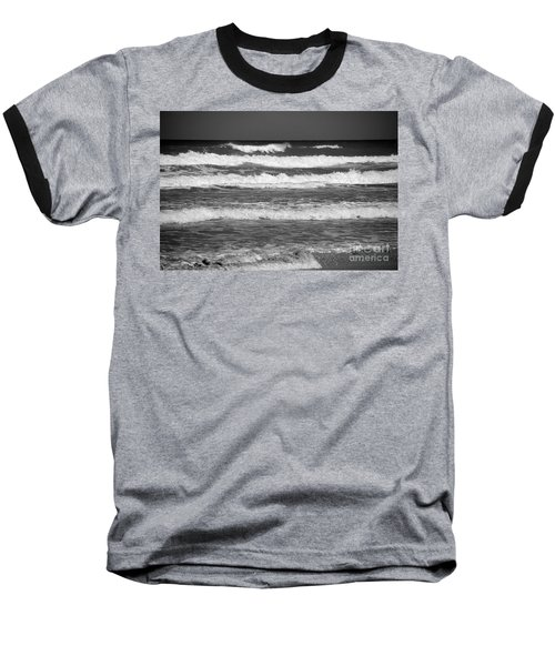 Waves 3 In Bw Baseball T-Shirt