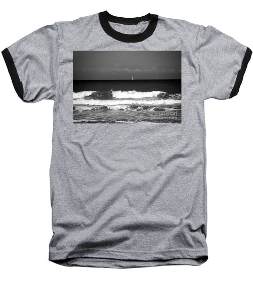 Waves 4 In Bw Baseball T-Shirt