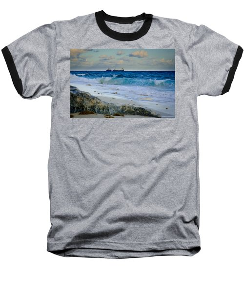 Waves And Tankers Baseball T-Shirt