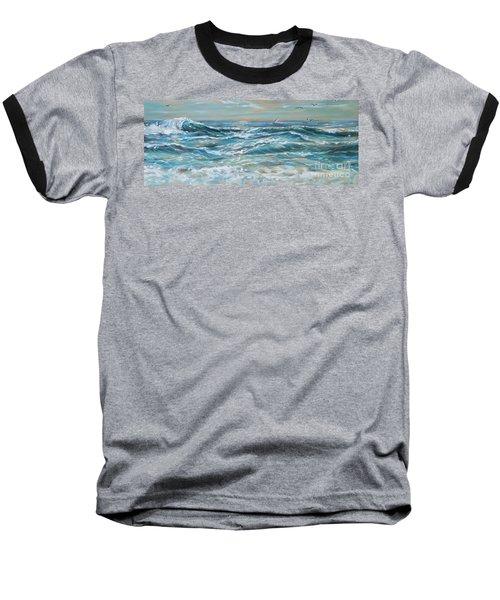 Waves And Wind Baseball T-Shirt