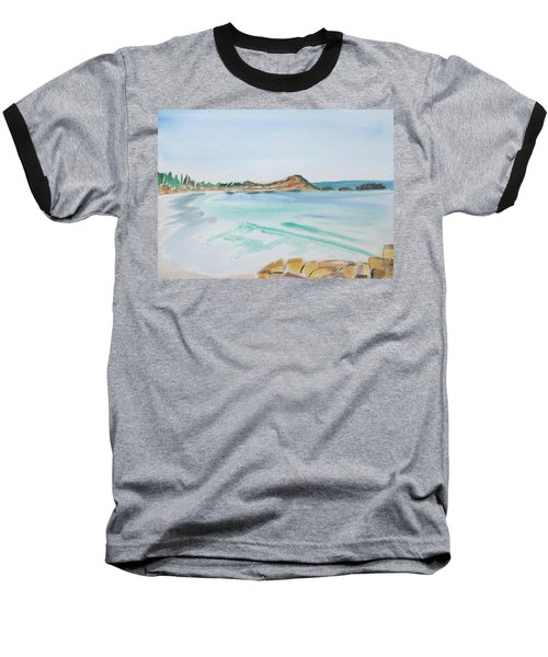 Waves Arriving Ashore In A Tasmanian East Coast Bay Baseball T-Shirt
