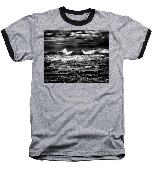 Waves At Dawn Baseball T-Shirt