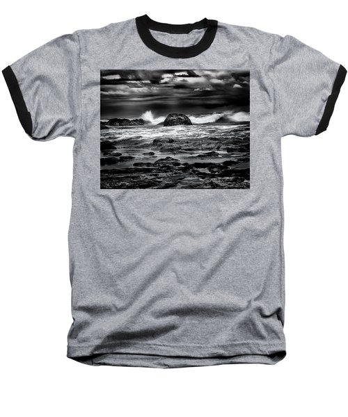Waves At Dawn Baseball T-Shirt