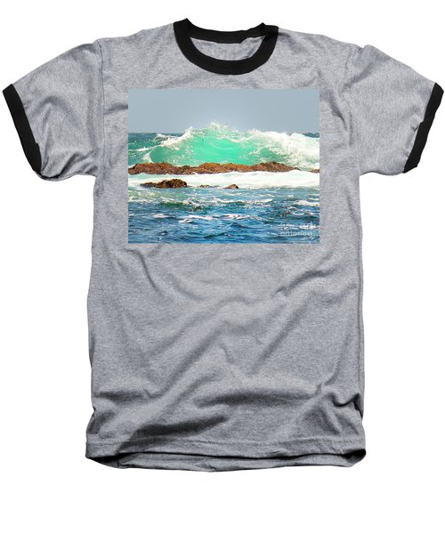 Waves At Pacific Grove California Baseball T-Shirt