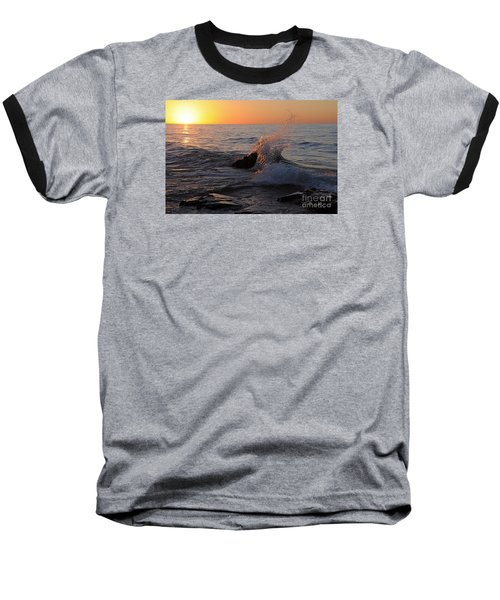 Baseball T-Shirt featuring the photograph Waves At Sunrise by Sandra Updyke