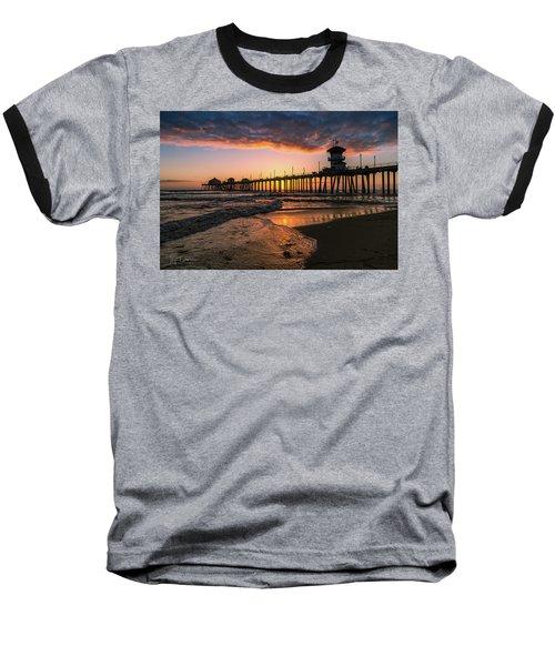 Waves At Sunset Baseball T-Shirt