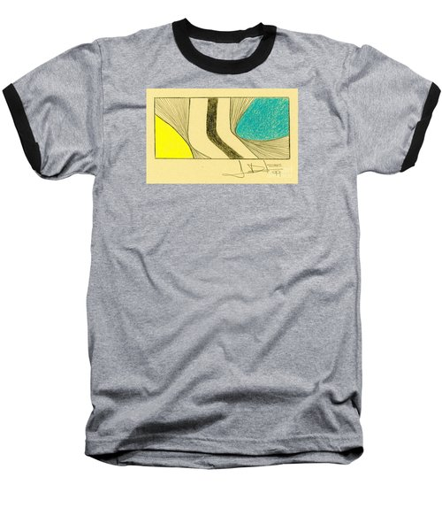 Waves Blue Yellow Baseball T-Shirt