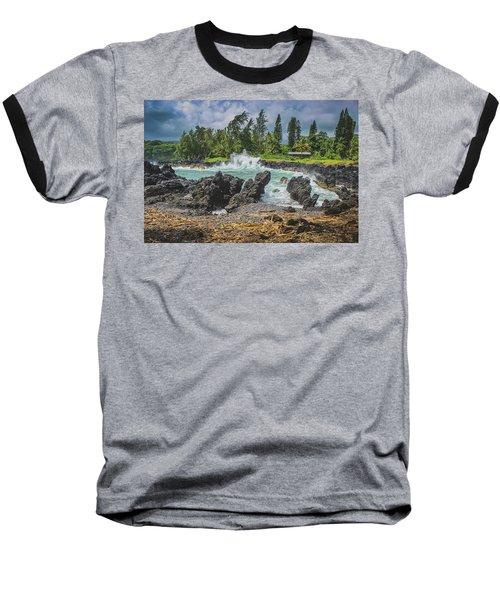 Waves Crashing Kawee Point Baseball T-Shirt