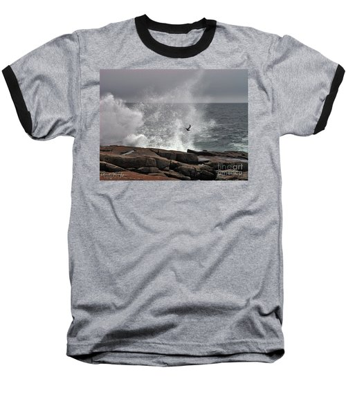 Waves Crashing  Baseball T-Shirt