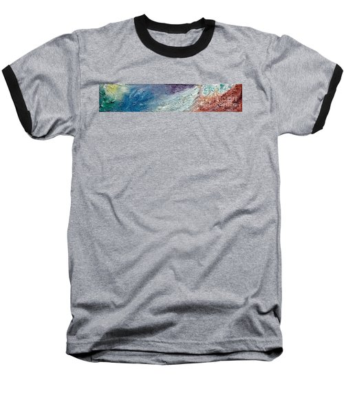 Waves Of Color Baseball T-Shirt by Gallery Messina