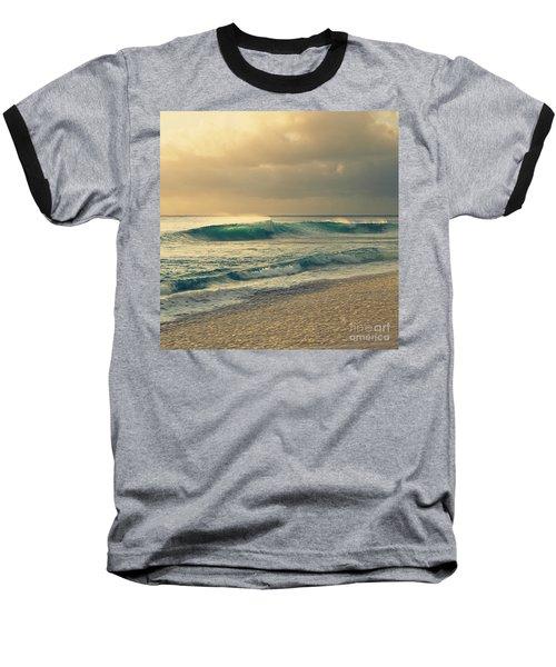 Waves Of Light - Hipster Photo Square Baseball T-Shirt