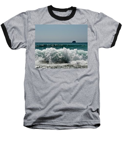 Baseball T-Shirt featuring the photograph Waves Of Pacific Ocean. Coromandel,new Zealand by Yurix Sardinelly
