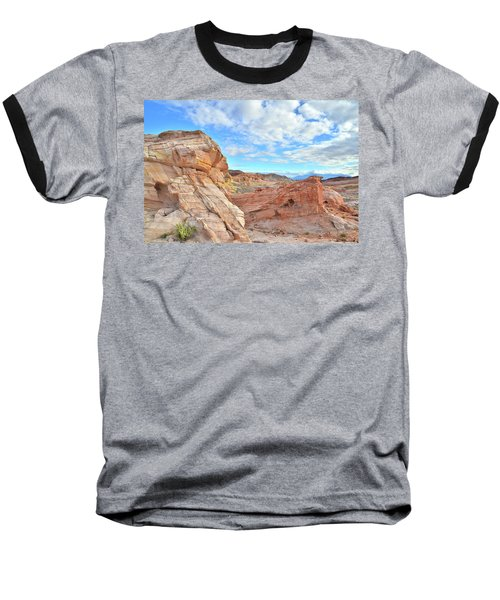 Waves Of Sandstone In Valley Of Fire Baseball T-Shirt by Ray Mathis