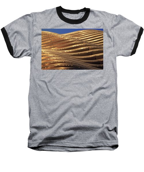 Waves Of Steel Baseball T-Shirt by Christopher McKenzie