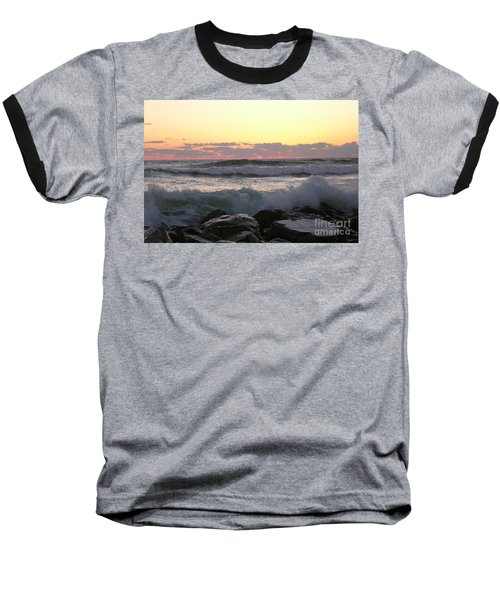 Waves Over The Rocks  5-3-15 Baseball T-Shirt