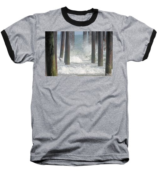 Waves Under The Pier Baseball T-Shirt