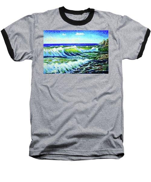 Waves Baseball T-Shirt by Viktor Lazarev