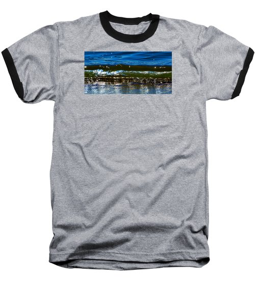 Baseball T-Shirt featuring the photograph Waves Water Light 2  by Lyle Crump