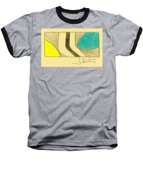 Waves Yellow Blue Baseball T-Shirt