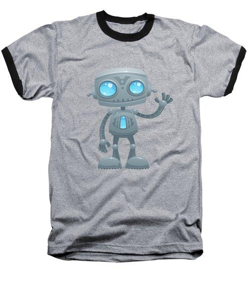 Waving Robot Baseball T-Shirt