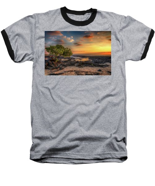 Wawaloli Beach Sunset Baseball T-Shirt