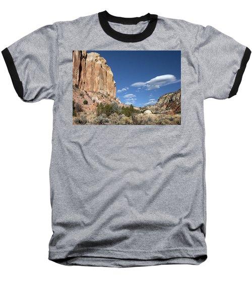 Way In The Distance Baseball T-Shirt by Elvira Butler