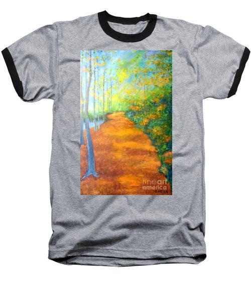 Way In The Forest Baseball T-Shirt