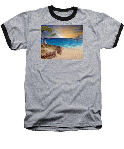 Way To Escape Baseball T-Shirt by Kimberlee Baxter