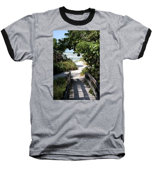 Way To The Beach Baseball T-Shirt by Christiane Schulze Art And Photography