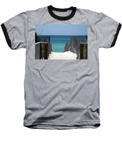 Way To The Beach Baseball T-Shirt by Susanne Van Hulst